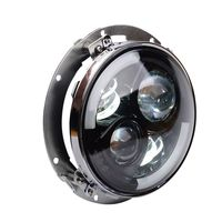 7 White halo Projector Daymaker LED Headlight with Extension Bracket For Harley Street Glide FLHX Touring