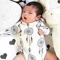 2017 Новорожденных Малышей Детские Девушки Мальчик Хлопок Комбинезон Боди Одежда Костюмы Baby Дети Комбинезоны