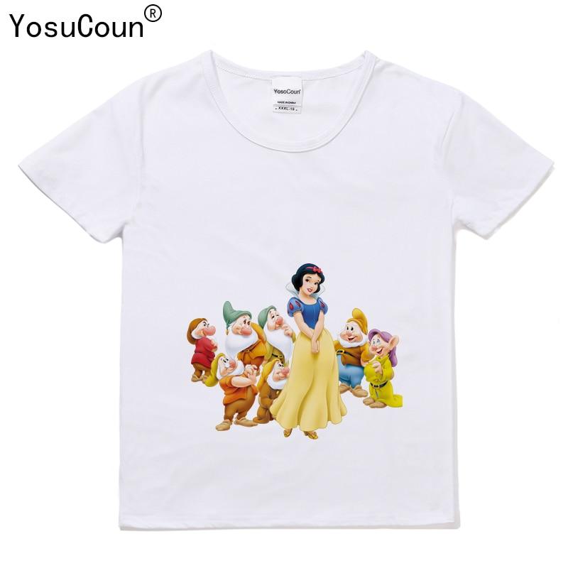 Elsa Costume Girls T-shirt For Girl Shirt Girl Clothe Short-sleeved Snow Shirt For Kid Girls T shirt Children Clothes T015X