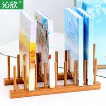 Buy five send a bamboo wood creative fashion simple small bookcase bookcase desk tops Stands Cheap
