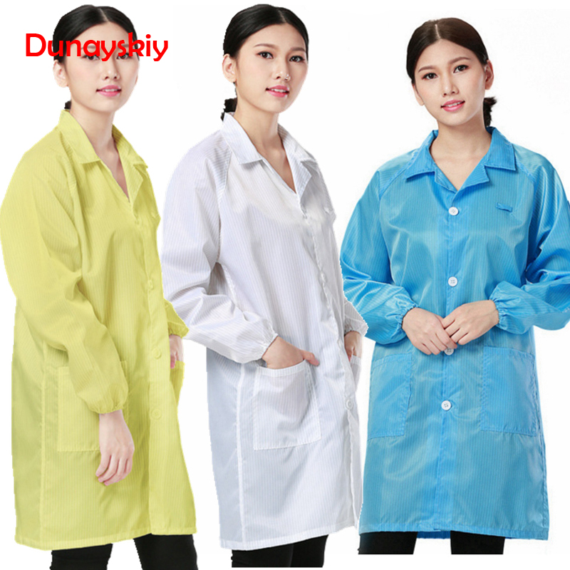 Women Medical Clothing ESD-Safe Shield Anti-static Dustproof LAB Smock Clothes Unisex Coats Work Wear Working Uniforms Lab Coats