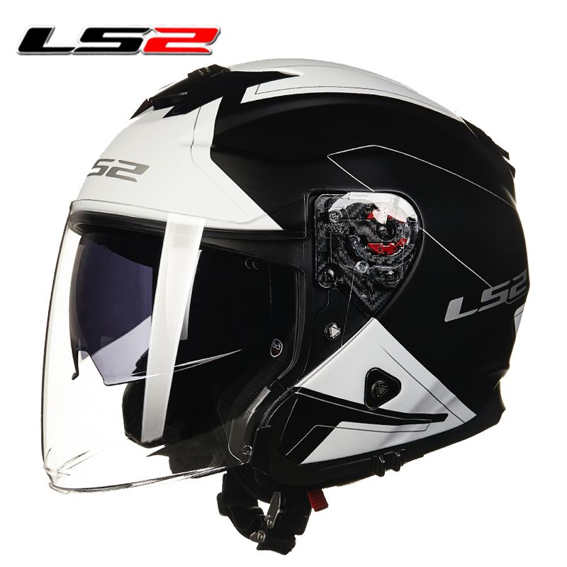Ls2 harley vintage motorcycle helmet motorbike vespa open for Best helmet for motor scooter