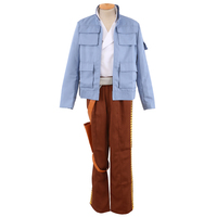 Star Wars Empire Strikes Back Han Solo COSplay Costume Jacket Attire Outfit