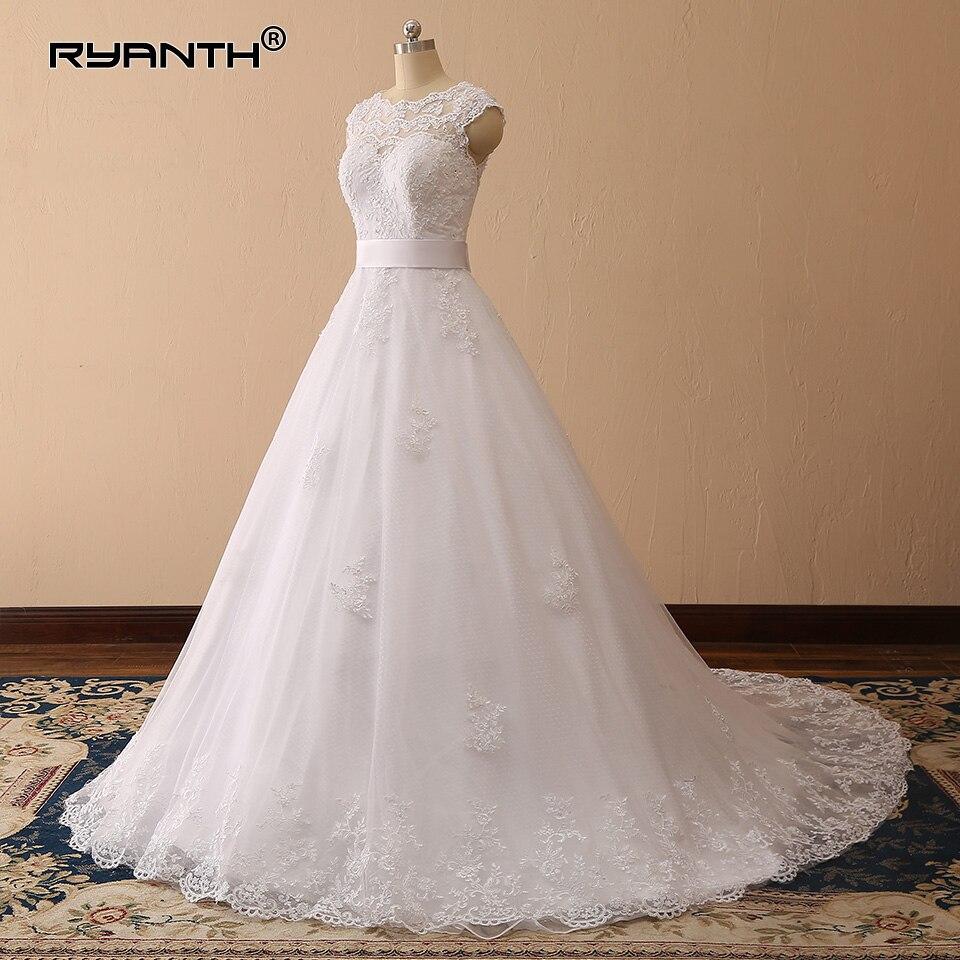 Robe de Mariee Cheap Vestido de noiva Lace Ball Gown Wedding Dress 2019 Custom Made Gowns