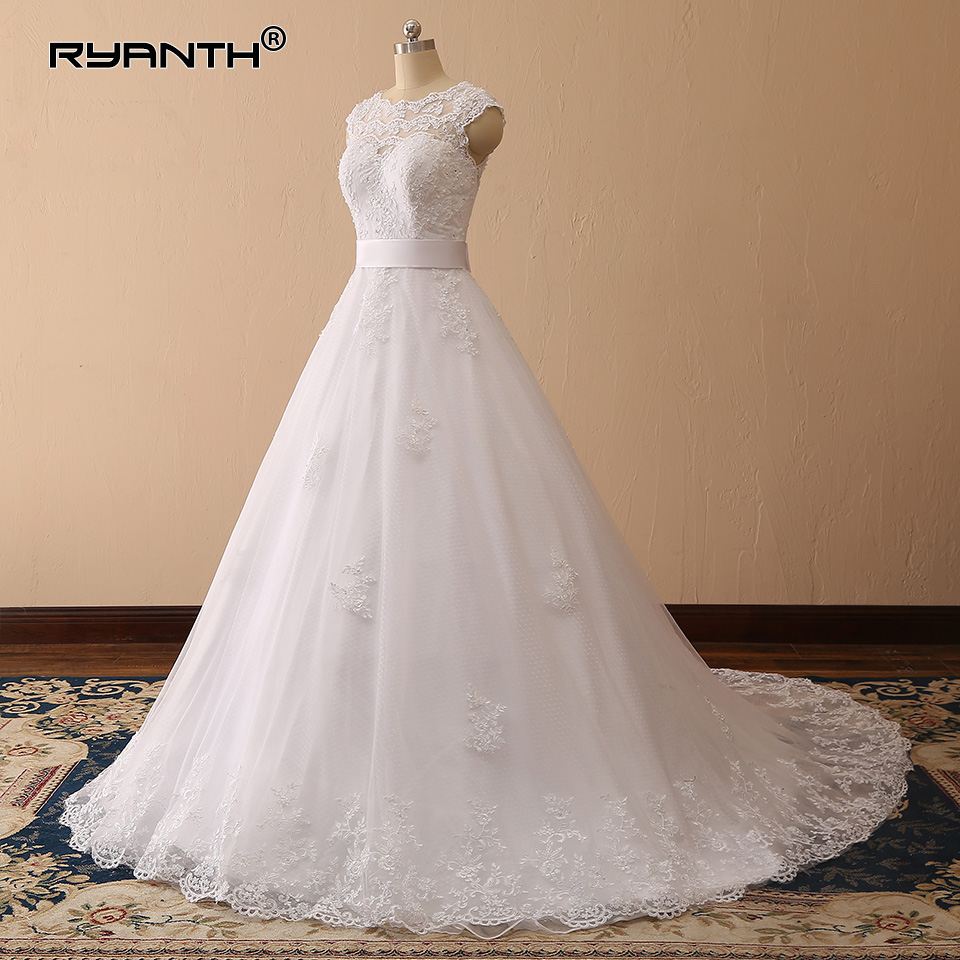 Robe de Mariee Cheap Vestido de noiva Lace Ball Gown Wedding Dress 2019 Custom Made Gowns Vestidos de novia Abiti da sposa