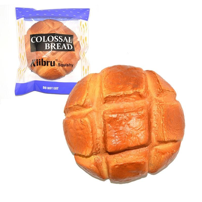New 18CM Kiibru Upgrade Super Jumbo Pineapple Bread Squishy Scented Slow Rising Original Package Toy 1PCS
