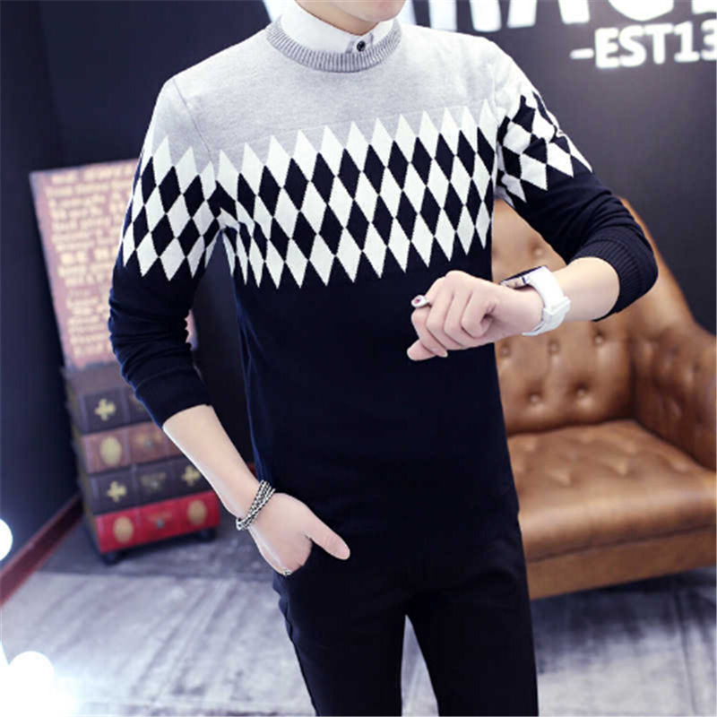 AILOOGE 2017 USA European Style Fashion Man/women Sweater Casual Men's Pullover Hand Knitted Slim Fit Male Brand Sweater