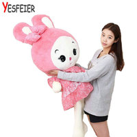 80 CM 2015 New Arrived Girl Stuffed Plush Toys Cushion Pillow Doll Dress Princess Rabbit WJCX