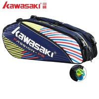Kawasaki Waterproof Tennis Badminton Rackets Bag Backpack Squash Racquet Team Sports Bags Hold 3 6 Rackets With Shoe Bag