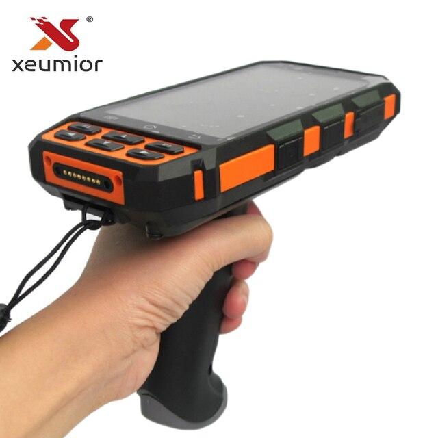 SM DT510 escáner de código de barras portátil Android inalámbrico, resistente, Bluetooth 4G, Wifi, POS, Terminal LF RFID UHF, lector PDA con agarre de pistola