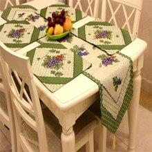 Американская страна жаккардовая скатерть и 4 столовые коврики виноградный узор посуда текстильная салфетка виноградный узор вечерние украшения стола