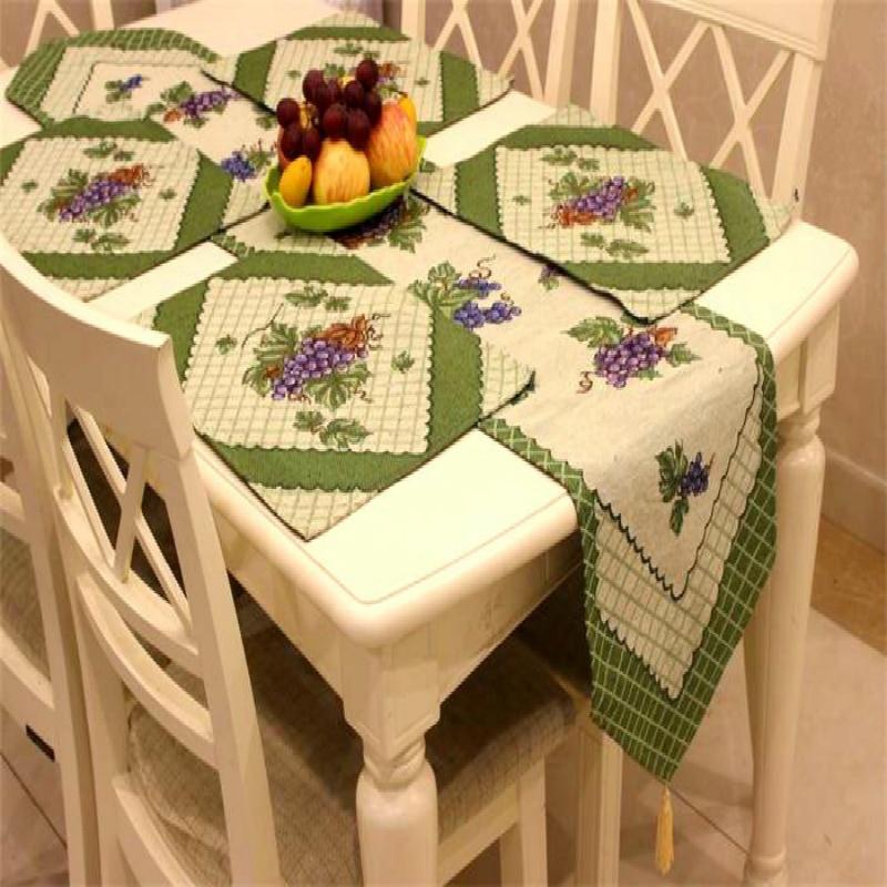 میز آمریکایی Jacquard Table Runner و 4 میز سفره - منسوجات خانگی