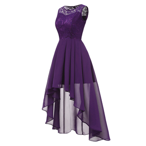 Image 2 - OML 536#Summer Sexy Lace Chiffon Violet Pink Bridesmaid Dresses Short long wholesale prom party Dress girl cheap wholesale women
