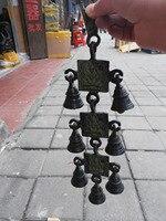 Bronze Bells Chinese Ancient Buddha Statue Three Layers Of Bells Wind Chimes Musical Instrument Metal Handicraft
