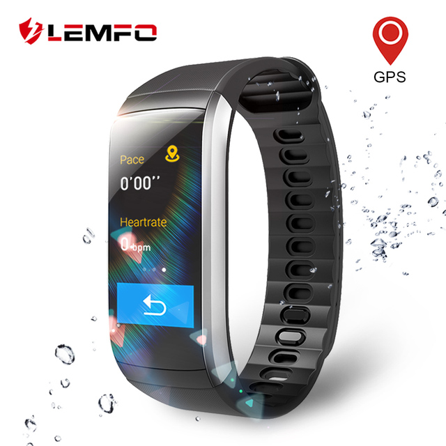 71e9bf218b15 LEMFO KR02 pulsera GPS IP67 impermeable Fitness banda inteligente Monitor  de ritmo cardíaco rastreador de actividad