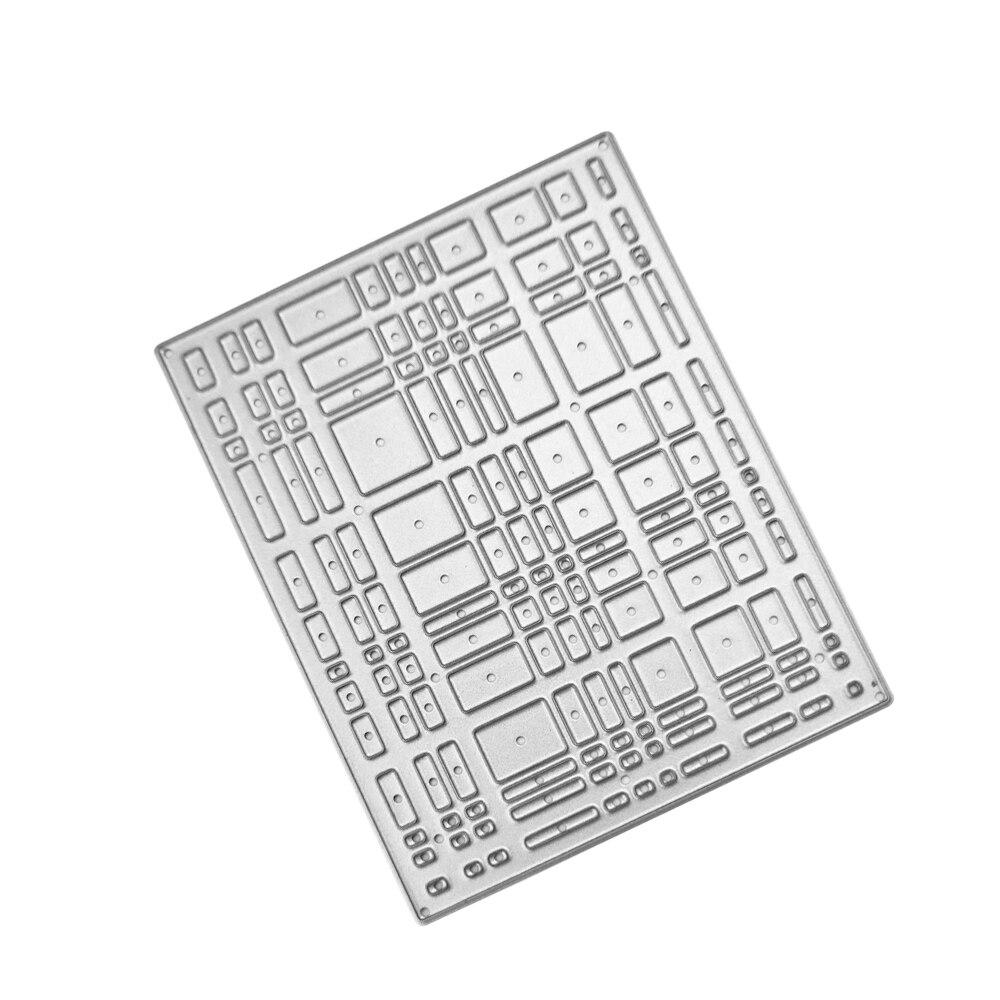 Swovo прямоугольник 64*84 мм решетки границе металл Сталь резки умирает трафарет для DIY Скрапбукинг Бумага/фото карты тиснение шаблон