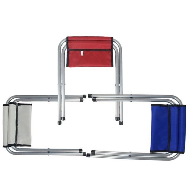 Tamborete de dobramento Duplo Dobrável Tamborete Cadeira Portátil Lazer Ao Ar Livre Banco Cadeira Legal Crianças que Pintam