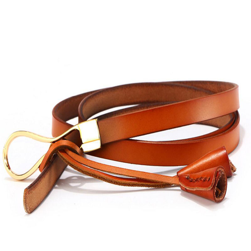 BESTYBT 2018 New Simple Dress Thin Section Decoration Ladies Fashion Accessories Wild Alloy Buckle Elastic Belt Hot S 1