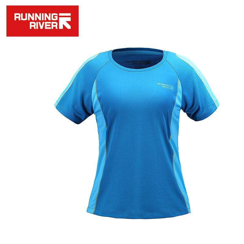 RUNNING RIVER Brand 2017 T-shirts për këmbë për gra me tharje të shpejtë të qetë 3 ngjyra 5 madhësi jakë të rrumbullakëta pambuku # G5221