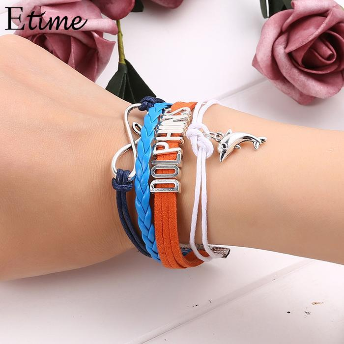 Bracelet Casual Rope Braided Layered Animal Pendant Lobster Claw Clasp Women