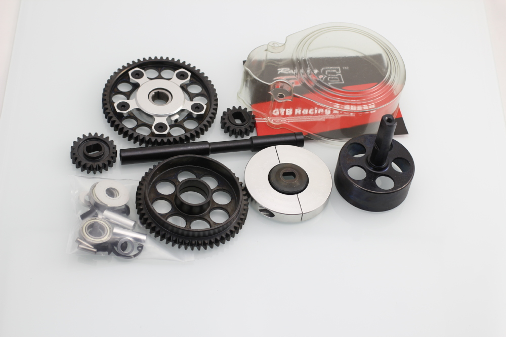 CNC - 2 speed system with plastic gear cover Set for Hpi Baja 5B/5T/5SC GR033CNC - 2 speed system with plastic gear cover Set for Hpi Baja 5B/5T/5SC GR033