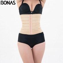 BONAS Plus Size Polyester Shaper Slimming Women Corset Waist Trainer Cinchers Belt Girls Slim Nylon Shapewear Solid Hot Body