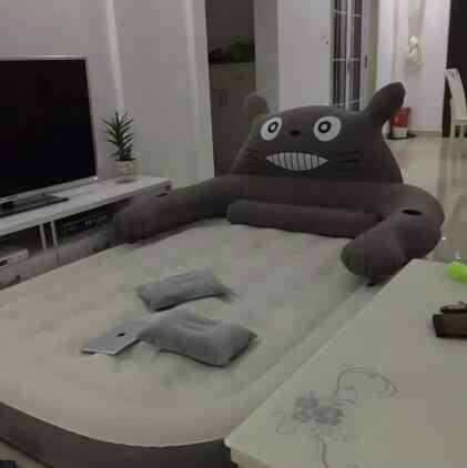 เรือโดยdhl Totoroสบายอะนิเมะน่ารักอากาศพองเตียงนอนนุ่มผ้าห่มขนแกะปะการังพรมเครื่องปรับอากาศแผ่น