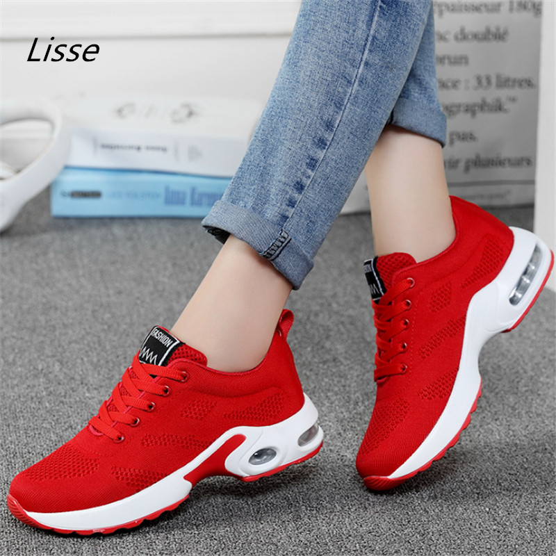 2018 new Hot Sale Sport shoes woman Air cushion Running shoes for women Outdoor Summer Sneakers women Walking Jogging Trainers