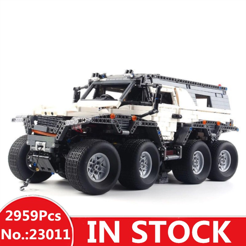 H&HXY 23011 2959Pcs Technic Series Off-road vehicle Model Building Kits Block Bricks Compatible Toys boy brithday gifts lepin 2816 pcs lepin 23011 technic series off road vehicle model moc assembling building kits block bricks compatible 5360 toy
