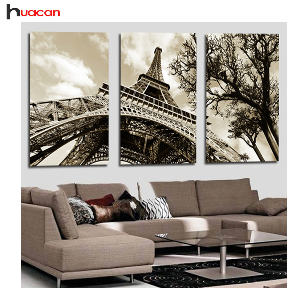 3Pcs Modern Picture Diamond Painting Cross Stitch Wall For ...