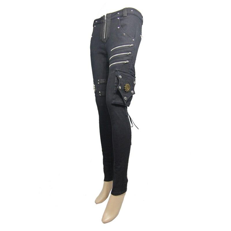 Nouveau Punk Rave mode noir évider gothique extensible Slim femmes Sexy Leggings pantalon WK342BK - 5