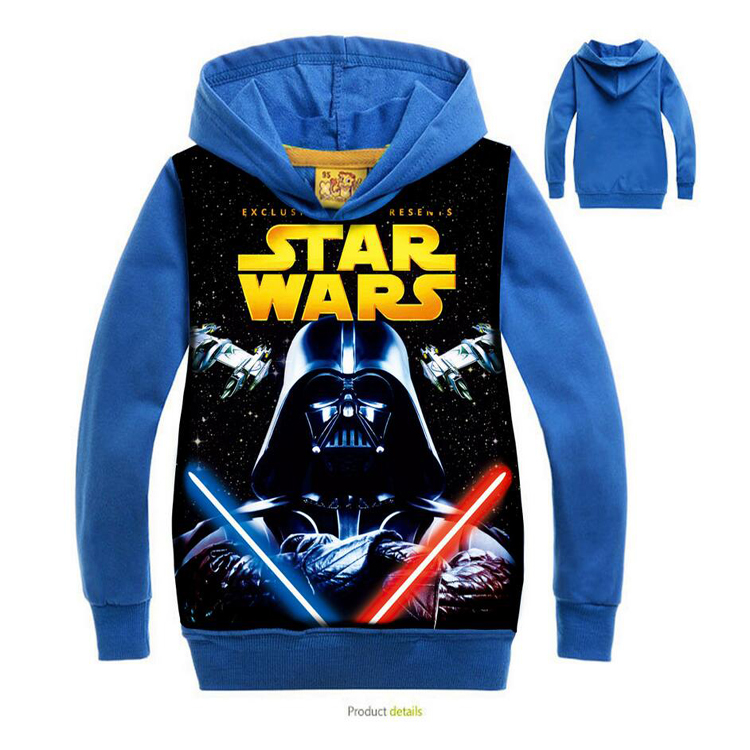 New Star Wars Boys Coat Cotton Autumn And Ice AgeSpring Kids Jacket Chirdren Hoodies Outerwear In Stock