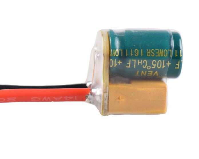 XT60-CAP power supply filter with 14AWG 10mm silicone cable 2S-6S 2200UF 25V for FPV flight controller ESC for RC Racing Drone (3)