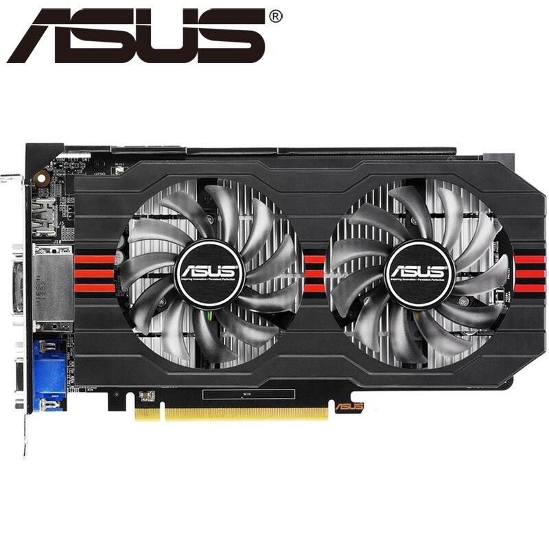 ASUS Grafikkarte Original GTX 650 Ti 1 GB 128Bit GDDR5 Video karten für nVIDIA Geforce GTX 650Ti Verwendet VGA Karten Auf Verkauf