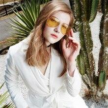 ASUOP New Pilot Night Vision Yellow Mens Sunglasses Fashion Brand Design Womens UV400 Glasses Classic Driving