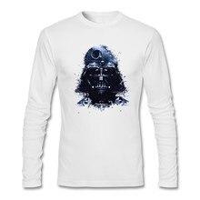 fcf42a902fe2 Darth Vader Vader Adulto T Camisa Lazer T-Shirt Frouxo Clássico Dos Homens  Camiseta de Manga longa 100% Algodão T-shirt Caras Ma.