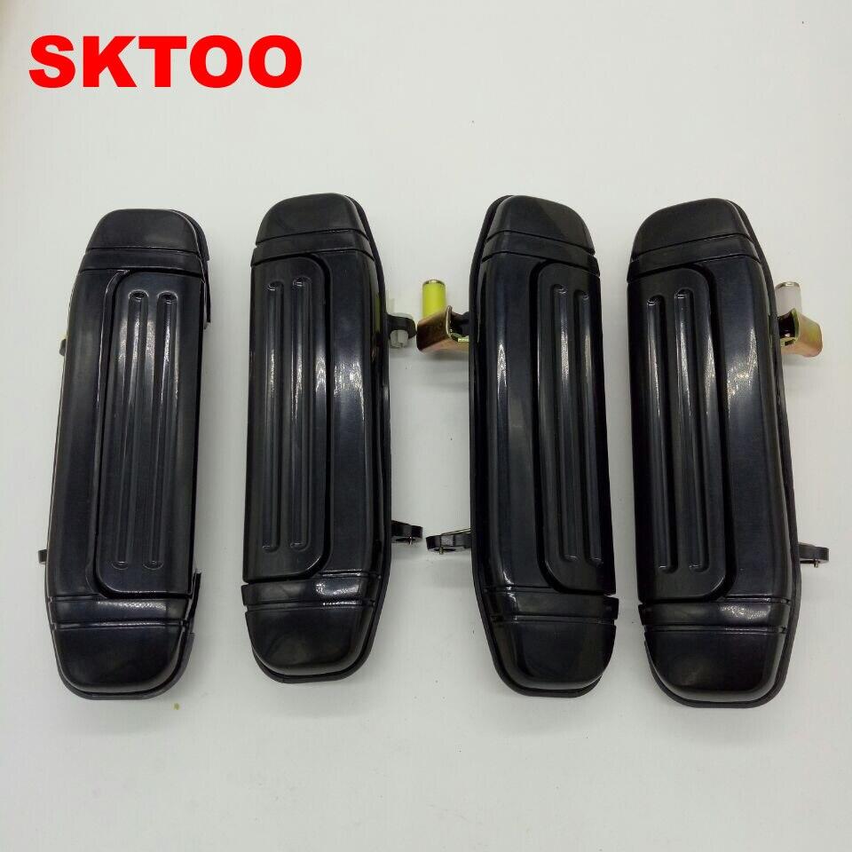 SKTOO A Set /4PCS Door Handle Plating for Mitsubishi Montero Pajero V46 V31 V32 V33 6470 6473 2030 parts (Plating on Plastics)
