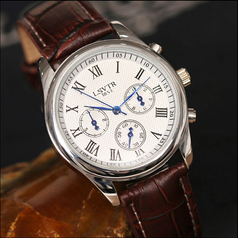 luxury brand mens watches fashion high quality leather