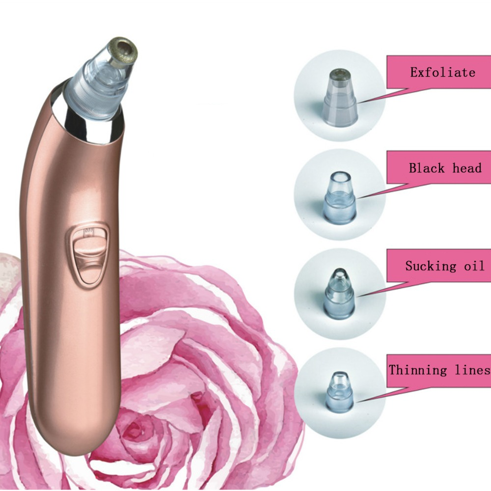 LINLIN Vacuum Pore Cleaner Blackheads Electric Acne Clean Exfoliating Cleansing face Facial Instrument comedones Battery plate