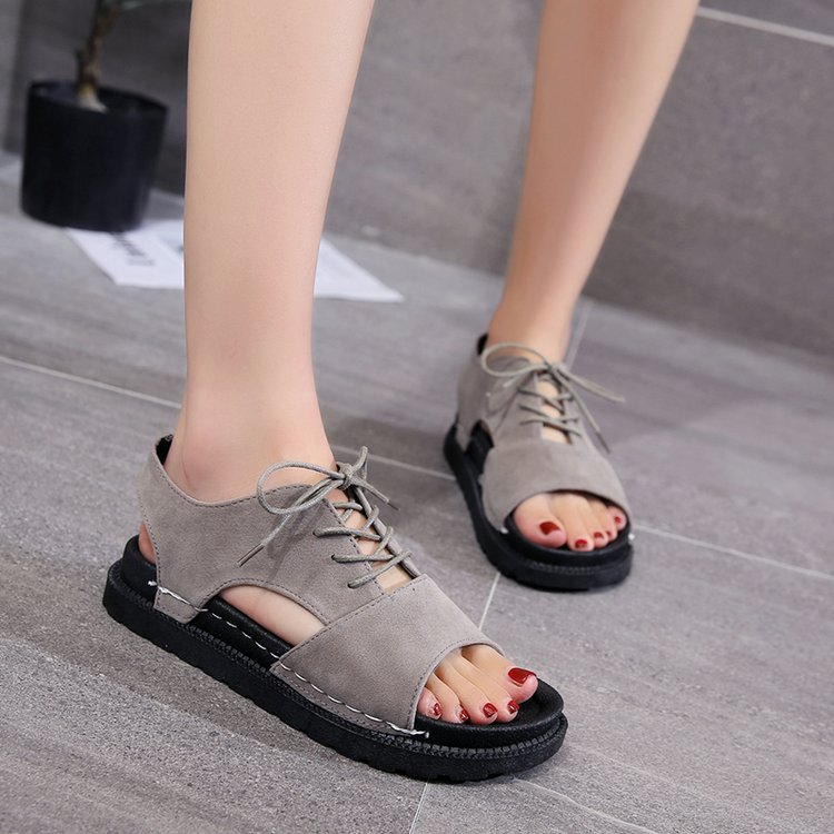 188c2558de4 Sandal Type  Ankle Strap Closure Type  Lace-Up Outsole Material  Rubber  Insole Material  Rubber Pattern Type  Solid Style  Fashion
