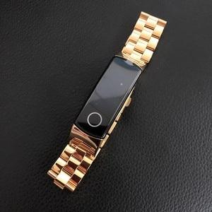 Image 2 - In metallo per Huawei Honor Fascia 4 5 Cinghia Della Fascia Dellacciaio inossidabile Del Braccialetto Accessori per Articoli Elettronica Smart Wristband