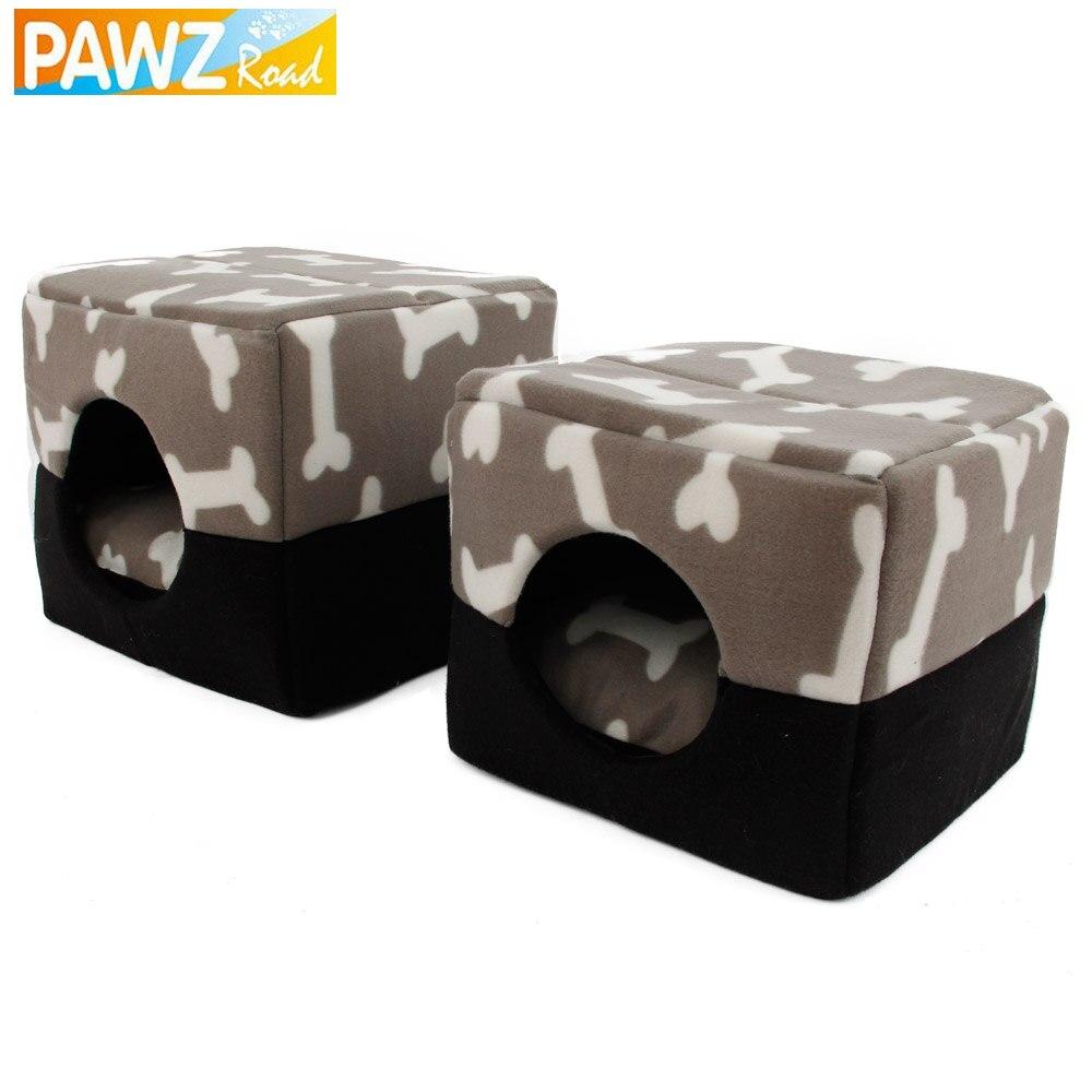 PAWZRoad Câine de câine de câine Kennel Pattern osoasă Canapea - Produse pentru animale de companie