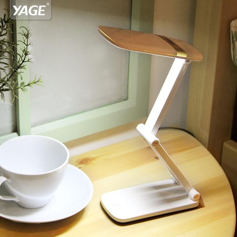 Yage luz noite candeeiro de mesa de toque lâmpada de mesa levou não-escurecimento do limite levou a leitura de livros luz da mesa usb Dobrável 10 pcs SMD Led