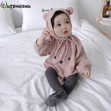 hot deal buy baby rompers winter baby boy girls clothes cotton newborn clothes infant jumpsuits new born warm clothing ropa bebe one piece