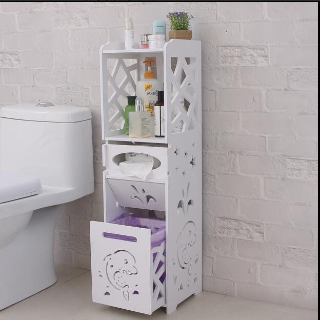 Bathroom rack toilet receives ark of storage locker water is waterproof