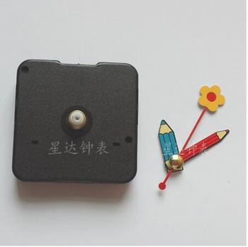 Fedex 100 sets design New Quartz Silent Clock Movement Mechanism Flower Pen Hand DIY Repair Part Kit