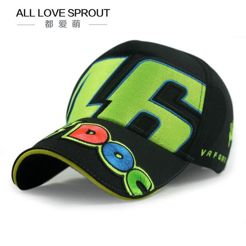 Prix pour 2017 Coton casquettes de Baseball VR 46 Caps MOTOGP Racing Moto Baseball Soleil Chapeaux Casquette