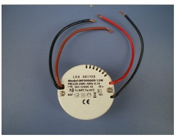 Nouveauté! 12 v 12 W pilote, 12 W pilote de lampe, 220-240 V entrée pour E27 GU10 E14 lampe à LED transformateur de LED de haute qualité 1 pièces revendre