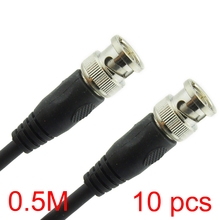 10x 0.5M/1.6FT BNC Male to BNC Male Connector RG59 Coaxial Cable For CCTV Camera