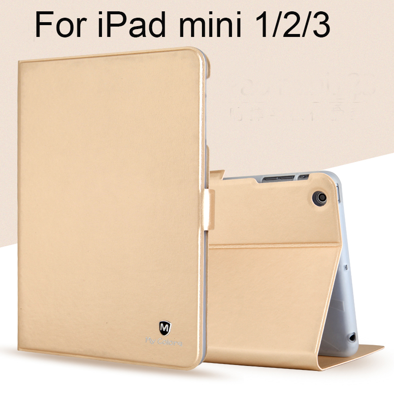 For Apple iPad mini 1/2/3  Case High Quality TPU+PU Leather Protective Skin Smart Cover with Sleep/wake up Tablet Accessory+gift nice flexible tpu silicone case for apple new 2017 ipad 9 7 cover protect smart cover partner clear transperent bottom back case